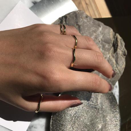 silver925 K18GP pinkyring -MiniWave-  <Style No.010904-60>Size: #5/#7/#11/#15/#17