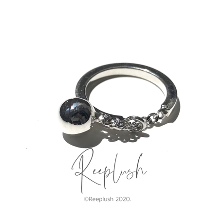 silver925 Ball Drop Ring/size:#11,15