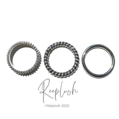 silver925 3SET Ring【Ethans】〈Style.No.020813-46〉
