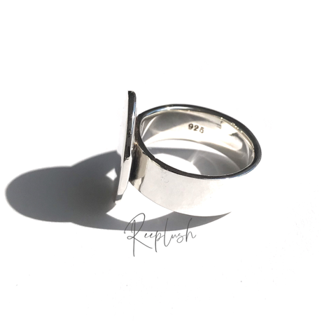 silver925 Lilac Ring/size:#13,15