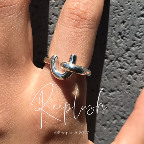 silver925 Catch Each Other Ring/size:#11,13,15