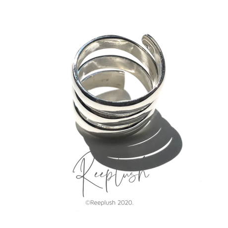 silver925 Spiral Ring/size:M〈Style.No.020813-39〉