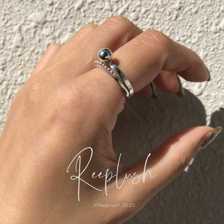 silver925 2SET Ring 【Cocoon】/size:#9,11