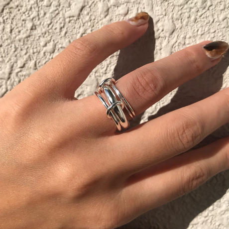 silver925  4 chains ring /size:S,M〈StyleNo.020605-56-re〉