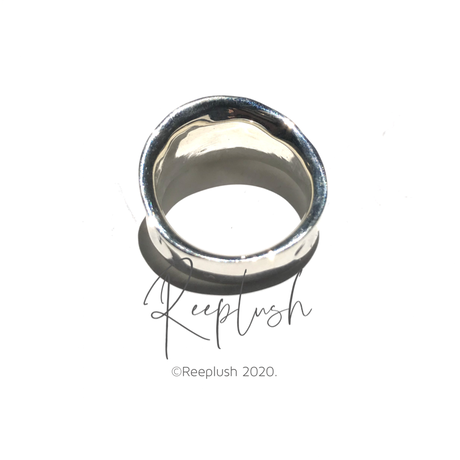 silver925 Shield Ring/size:#9-15