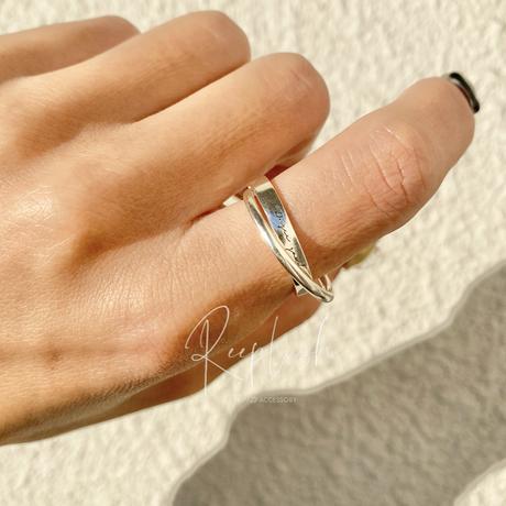 【お好きな刻印お入れします】silver925  Bonds original Message Ring