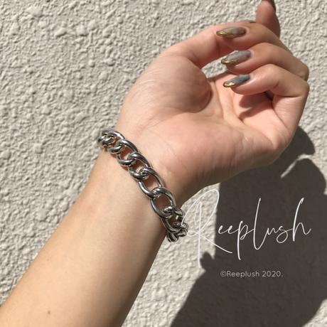 silver925 OT Fat Chain Bracelet