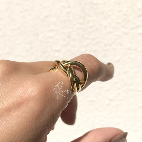【ラスト1点/13号】silver925 K18GP Duo Ring
