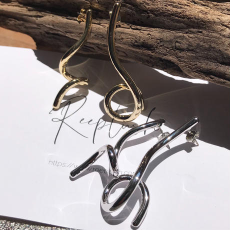 alloy DrawingRope pierce〈StyleNo.010724-1〉