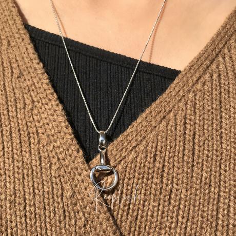 silver925 Burgundy Necklace /50cm