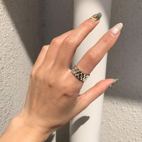 silver925 Watch Belt Ring/size:#12-14
