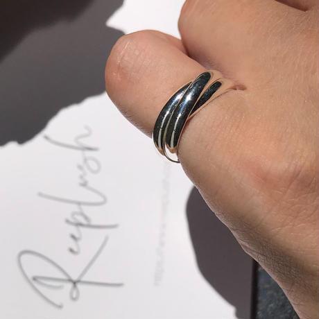 silver925 pinkyring -TripleLayered-〈StyleNo.010724-14〉size:#5/#3