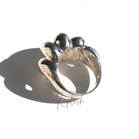 silver925 Pansy Ring/size:13