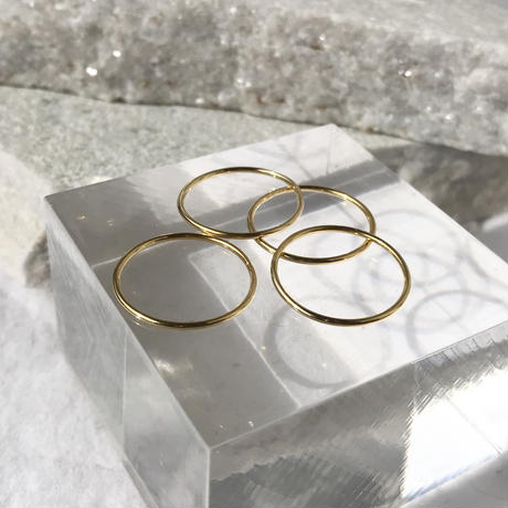 silver925 K18GP 1mm Ring/size:#1-16