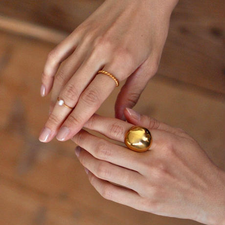 K18 Gold Pearl Ring [RC-RG021]