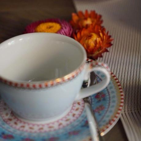 コーヒーカップ、受け皿セット ブルー