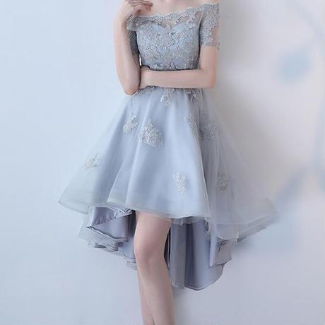 フィッシュテール スカート オフショル  チュール  パーティー ドレス   フレア