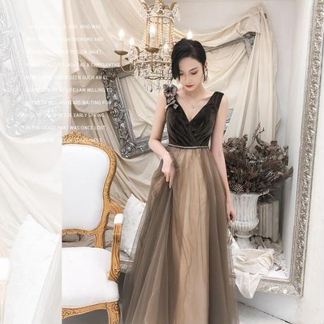 高級感 ゴールド パーティ ゴージャス ドレス