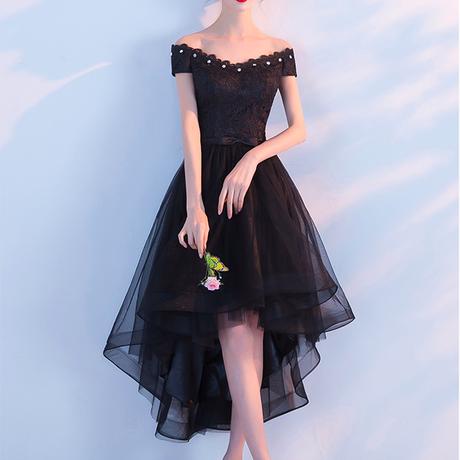 イブニングドレス オフショルダー パーティー ドレス フェミニン