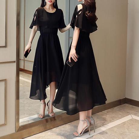 オープンショルダー 綺麗目   二次会 パーティー お呼ばれ ワンピース ドレス