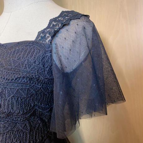 ドット柄 タートル フェアリー  ロング ドレス