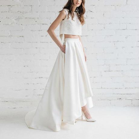 セパレートアシンメトリー  二次会  結婚式 お呼ばれ ウエディングドレス