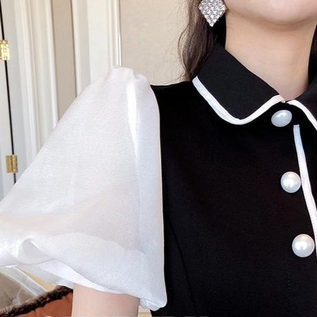 シルエット ミディ フェエミニン パーティー ドレス