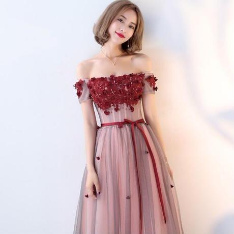 花柄 ロング 大きいサイズ パーティ 二次会  結婚式   ドレス