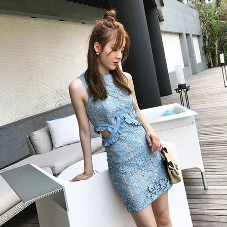 レース ミニ丈 セクシー パーティー  タイト  結婚式 二次会 韓国 オルチャン キャバ ドレス