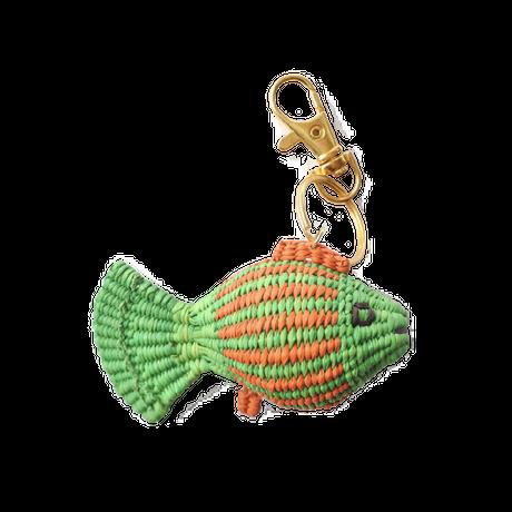 金魚キーホルダー 黄緑×オレンジ