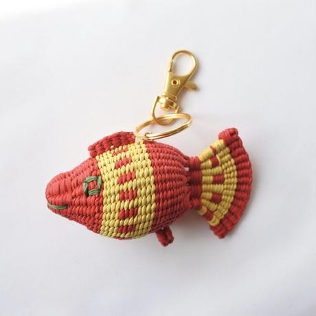 金魚キーホルダー 赤×黄