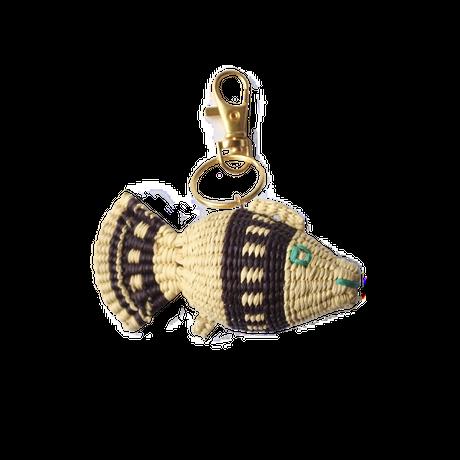 金魚キーホルダー ナチュラル×紫