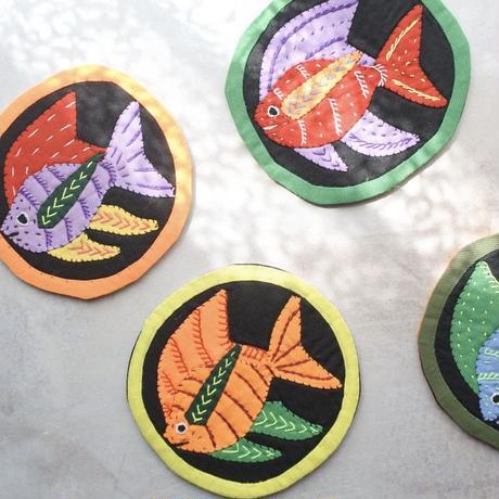 モラコースター お魚 A  【4枚セット】