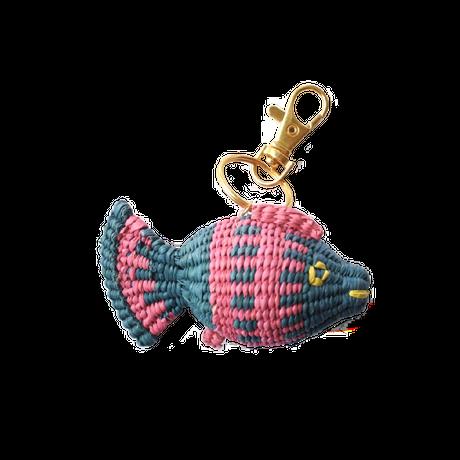 金魚キーホルダー エメラルド×ピンク