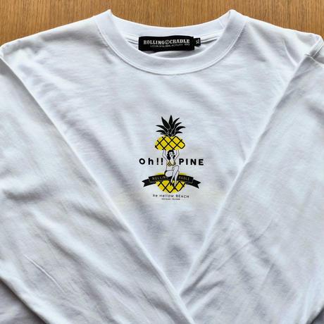 【リハロウオリジナル】L/S OH!!PINE!!  TEE  WHITE
