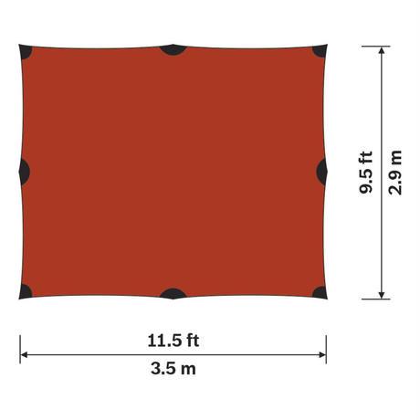 【HIILEBERG】シェルターTarp 10 UL/RED
