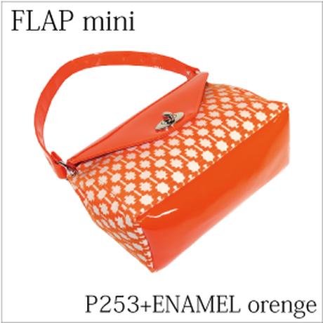 フラップミニ オレンジ柄