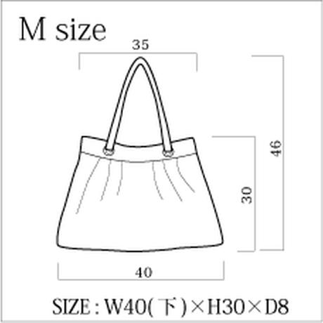 ギャザー Mサイズ R32/シフォン+ホワイトエナメル