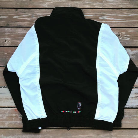 REIMGLA  Nylon Truck Jacket(Black×White)