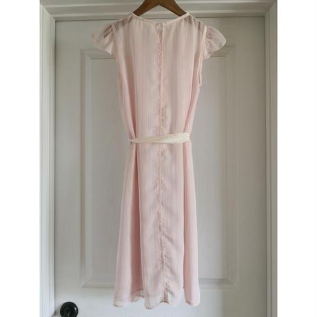 Lame Chiffon Dress  -Pink-