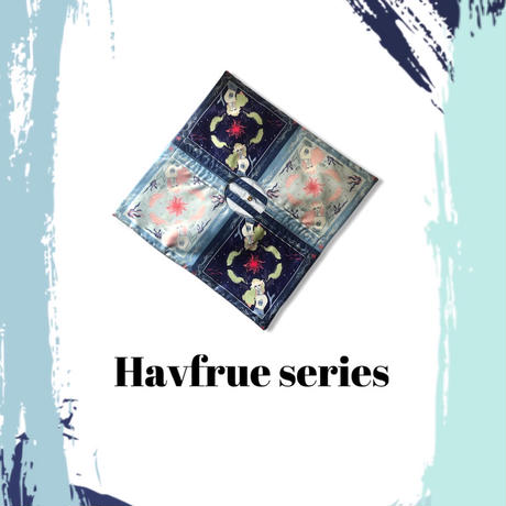 1001  HAVFRUE/ SCARF TOTE/BLUE(60)