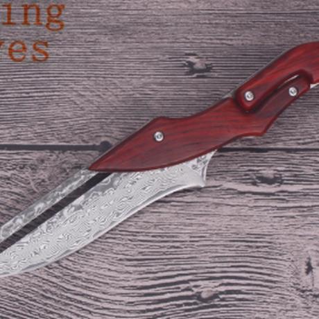サバイバル ナイフ アウトドア ダマスカス 機械式 折りたたみ ナイフ