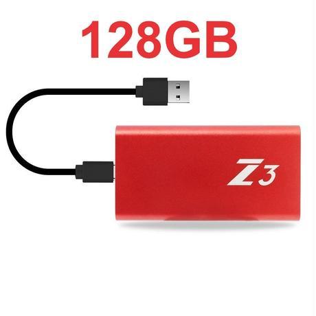 PS4 USB 外付け SSD KingSpec Z3  128GB Type-C USB3.1