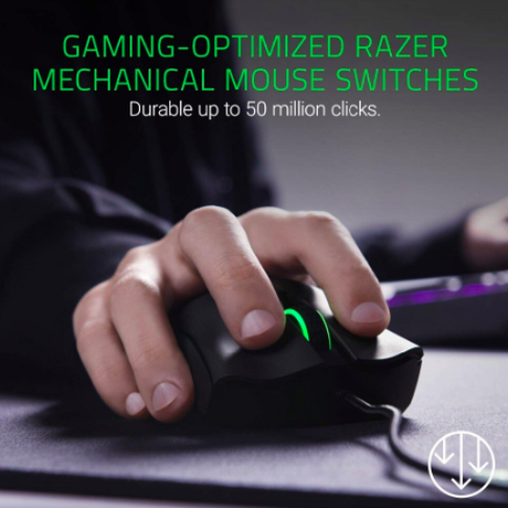 Razer ゲーム ゲーミングマウス DeathAdder Elite 16000 DPI 光学センサー 5独自にプログラム可能な 人間工学 的 デザイン
