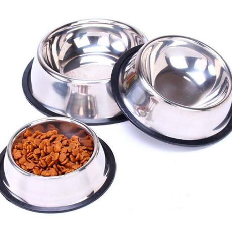 ネコ イヌ 用 食品皿3サイズ 犬猫ボウルステンレス