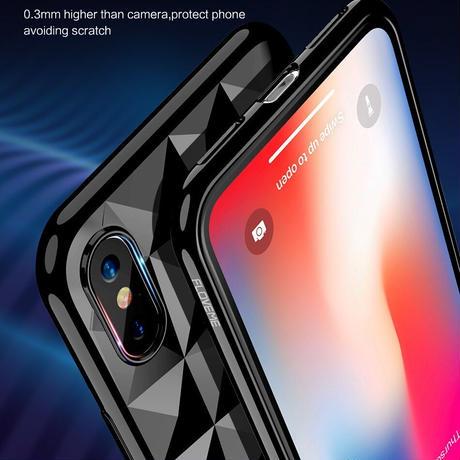 FLOVEME iPhone ケース ソフトダイヤモンドパターン X 8 7 6S Plus 高級ウルトラスリムバックカバー