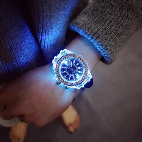 GENEVA ジェネバ ジュネーブ 腕時計 LED 男女兼用