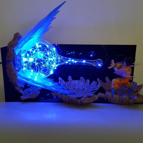 かめはめ波 ドラゴンボール バトル フィギュア LED ナイトライト