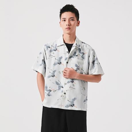 メンズ アロハシャツ 半袖 カジュアル ルーズ シャツ