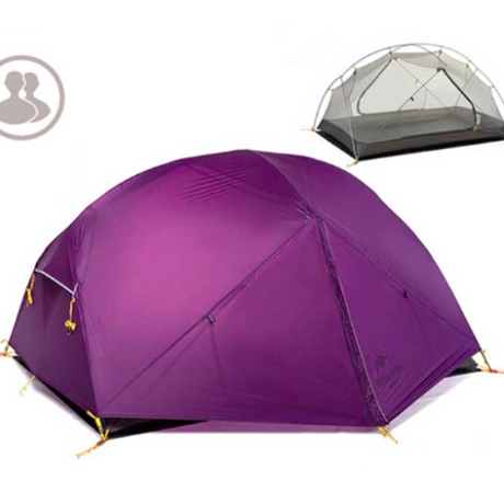 Naturehike アウトドア 超軽量 テント クラウドアップシリーズ キャンプ ナイロン 二重層防水テント